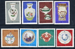 HUNGARY 1972 Herend Porcelain Set MNH / **.  Michel 2795-802 - Hungary