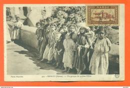"""CPA Sefrou - Maroc  """" Un Groupe De Petites Filles """"  LJCP 19 - Sonstige"""
