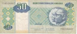 BILLETE DE ANGOLA DE 50 KWANZAS DEL AÑO 2010 (BANKNOTE) - Angola