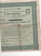 EMPRUNT RUSSE  CHEMIN DE FER DE VOLGA BOUGOULMA 1910 AU PORTEUR - Actions & Titres