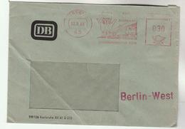 1968 GERMANY COVER DB METER Illus ESSEN RAILWAY TRAIN Slogan Stamps - Trains