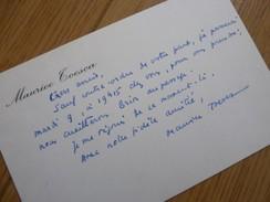 Maurice TOESCA (1904-1998) Ecrivain LES HOMMES SANS EPAULES. Ortf. AUTOGRAPHE - Autographes