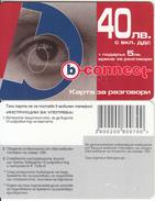 BULGARIA - Eye, B Connect Prepaid Card 40 Leva, Tirage 8000, Sample