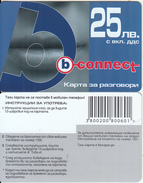 BULGARIA - Lips, B Connect Prepaid Card 25 Leva, Tirage 26400, Sample