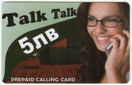BULGARIA - Girl On Phone, 4GBS Prepaid Card 5 Leva, Sample