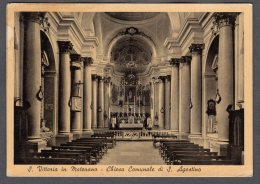 1961  SANTA VITTORIA IN MATENANO CHIESA COMUNALE S. AGOSTINO FG V  SEE 2 SCANS ANNULLO S. VITTORIA - Italia