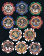 11 TOPPS 2005-2006 NBA COLLECTOR POKER CHIPS -kobe Bryant -chris Webber -wayne Simien -steve Nash -darius Miles... - Basketball - NBA