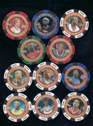 11 TOPPS 2005-2006 NBA COLLECTOR POKER CHIPS -shawn Marion-shaquille O'neal-monta Ellis-danny Granger-J.R.smith... - Basketball - NBA