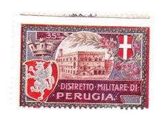Vignette Militaire Delandre - Italie - 35ème District Militaire Di Perugia - Vignettes Militaires