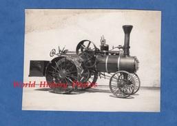 Photo Ancienne - Tracteur / Machine à Vapeur à Identifier - Voir Modèle - Agriculture - Automobiles