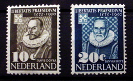 NETHERLANDS # 328-329.  375th Anniversary Founding Of University Of Leyden.  MH (*) - Unused Stamps