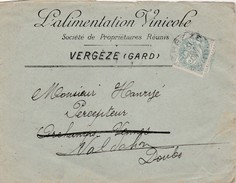Enveloppe Commerciale 1904 / Alimentation Vinicole / Vin Vignoble / 30 Vergèze Gard - Cartes