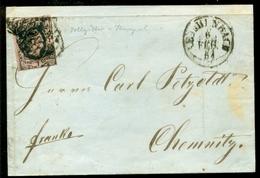 Altdeutschland Sachsen 1954 Brief Stempel Reichenbach Mit Mi 4 - Sachsen