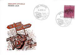 31082 - Enveloppe Avec Cachets Illustrés Anzere 1972 - Marcophilie
