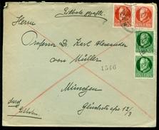 Bayern 1916 (?) Brief Mit Mi 113 (2) Und 113 (2) - Bayern