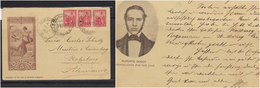 O) 1903 ARGENTINA, POSTAL STATIONARY, 5 CETNAVOS RED - ALLEGORY LIBERTY,  RUPERTO GODOY, TO GERMANY, XF - Postal Stationery