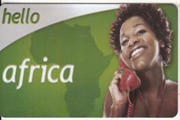 GREECE - Woman On Phone, Hello Africa Promotion Prepaid Card, Sample - Greece
