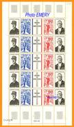 France**LUXE 1971 P 1698A (1695 à 1698) 5 Bandes En FEUILLE, 5 Bandes De Vf (4 Fois) O,50 F. Charles De Gaulle (22/11/18 - Feuilles Complètes