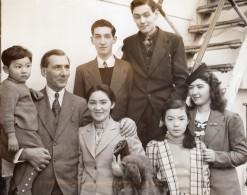 USA Seattle Famile Americaine Rapatriee Du Japon PD Brown Hikawa Maru Ancienne Photo 1941 - Guerre, Militaire