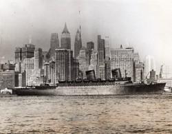 New York USS West Point Diplomates Allemands Italiens Expulses WWII WW2 Ancienne Photo 1941 - Krieg, Militär