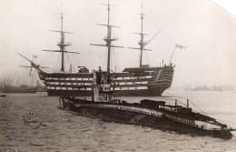 Royaume Uni Portsmouth HMS Victory Avant Restauration Ancienne Photo 1922