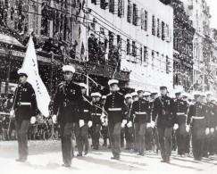 Australie Brisbane Marins Des Croiseurs USS Northampton Et Salt Lake Ancienne Photo 1941