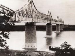 Roumanie Cernavoda Pont Ferroviaire Anghel Saligny Danube WWII WW2 Ancienne Photo 1941