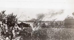 Russie Artillerie Armee Rouge Tirant Sur Troupes Ennemies WWII WW2 Ancienne Photo 1941