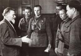 Russie Mikhail Kalinin Decorant Aviateurs Militaires WWII WW2 Ancienne Photo 1941