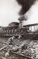 Russie Bataille Sur La Ligne Smolensk Moscou Tank Russe WWII WW2 Ancienne Photo 1941 - Guerre, Militaire