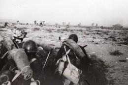 Libye Siège De Tobrouk Troupes Allemandes Et Italiennes WWII WW2 Ancienne Photo 1941