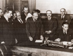 Russie Moscou Signature Du Traite Lend-Lease Molotoff Harriman Beaverbrook WWII Ancienne Photo 1941