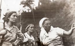 Russie Femmes Russes Dans La Guérilla Fusil Baïonnette WWII WW2 Ancienne Photo 1941
