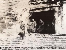 Russie Reunion Des Leaders Des Forces De L'Axe Citadelle Russe WWII WW2 Ancienne Photo 1941
