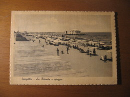 CARTOLINA - SENIGALLIA  LA ROTONDA E  SPIAGGIA ANIMATA - B  1566 - Ancona