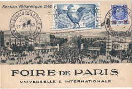 -----  75 ----- FOIRE DE PARIS  Universelle Et Internationale Section Philatélique - SUPERBE - Non écrite - Erinofilia