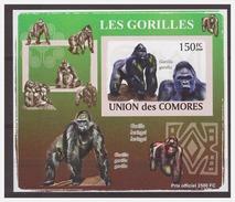 0071 Comores 2009 Apen Monkey Ape S/S MNH Imperf - Apen