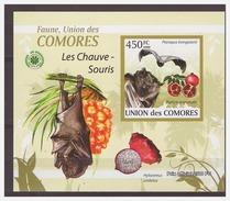 0074 Comores 2009 Vleermuizen Bats S/S MNH Imperf - Vleermuizen