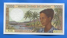 Comore  1000 Fr  Neuf  N.04 - Comoros