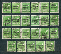 Germany, Soviet Zone 1948, MiNr 185 (from Set MiNr 182-197); Used (2) - Lot Of 23 Stamps - Zone Soviétique