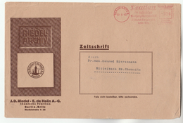 1940 GERMANY Stamps ADVERT COVER METER SLOGAN Riedel CHEMICAL FACTORY Berlin Britz - Germany