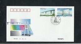 O) 2000 CHINA. BRIDGES - CIVIL ENGINEERING.- LONGER BRIDGES, FDC XF - 1949 - ... People's Republic