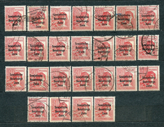 Germany, Soviet Zone 1948, MiNr 192 (from Set MiNr 182-197); Used (2) - Lot Of 25 Stamps - Zone Soviétique