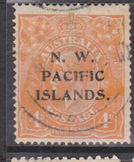 1915-16. North West Pacific Islands. KGV. 4d. Yellow-Orange. FU. - 1913-36 George V : Other Issues