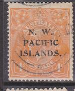 1915-16. North West Pacific Islands. KGV. 4d. Yellow-Orange. FU. - Usati
