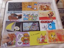 LOT DE 13 CARTES ILLUSTRATIONS ...MESSAGES - Cartoline
