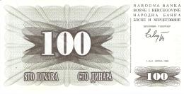 BOSNIE - HERZEGOVINE   100 Dinara   1/7/1992   P. 13a   UNC - Bosnia Erzegovina