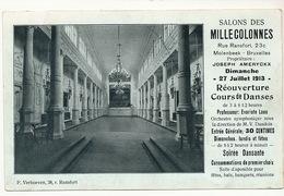 Salons Des Millecolonnes Rue Ransfort 23 C Molenbeek  Joseph Ameryckx Cours  Danse Edit P. Verhoeven Prof Evariste Loos - Belgium