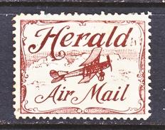 AUSTRALIA  SEMI-OFFICIAL  SO 2   *  HERALD  AIR  MAIL - Airmail