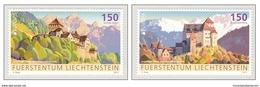 Liechtenstein 2017 Cept - Castles Of Liechtenstein Mountains MNH **